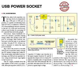 USB Power Socket Project