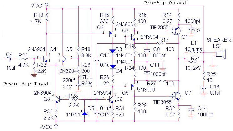 200W Power Amplifier : Schematic Diagram & PCB Design