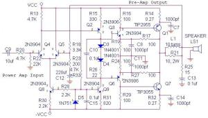 70W OCL Power Amplifier Circuit