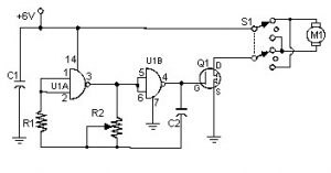 PWM DC Motor Controller with MOSFET Schematic