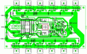 500W RMS Power Amplifier Top PCB Layout