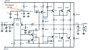 120W Power Amplifier Schematic Design