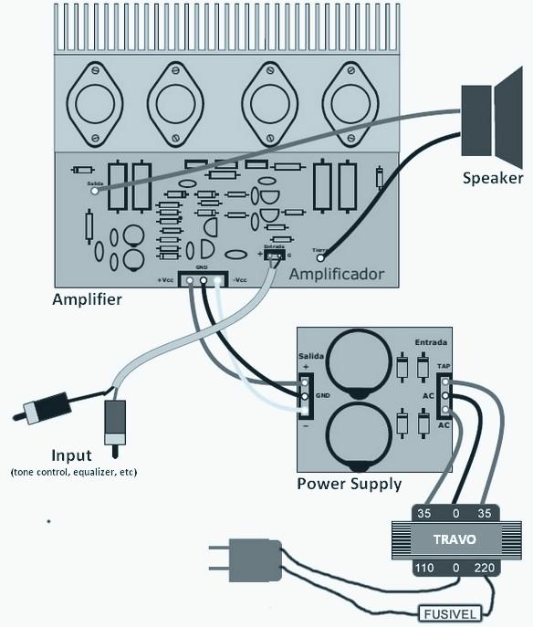 120w Power Amplifier   Power Supply