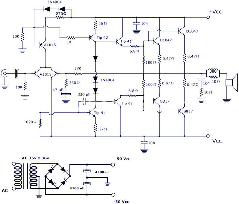 200w Power Amplifier   Schematic Diagram  U0026 Pcb Design