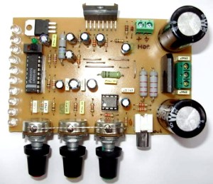 Circuit Project 4in1 100W Power Amplifier + VU Meter + Tone Control + Power Supply