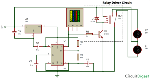 small resolution of 24v flasher circuit diagram