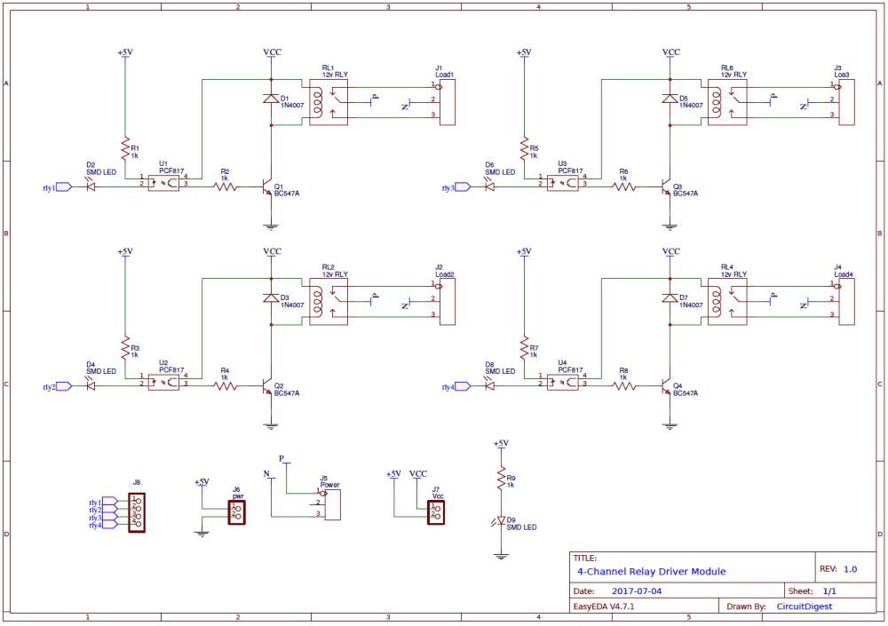 medium resolution of 4 channel relay driver circuit diagram on pcb relay schematic pcb