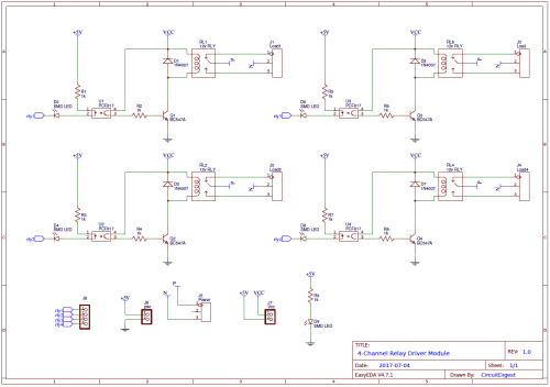 small resolution of 4 channel relay driver circuit diagram on pcb relay schematic pcb