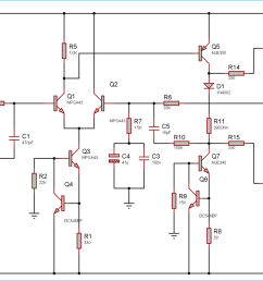 circuit diagram for 100 watt power amplifier circuit using mosfet [ 1400 x 752 Pixel ]