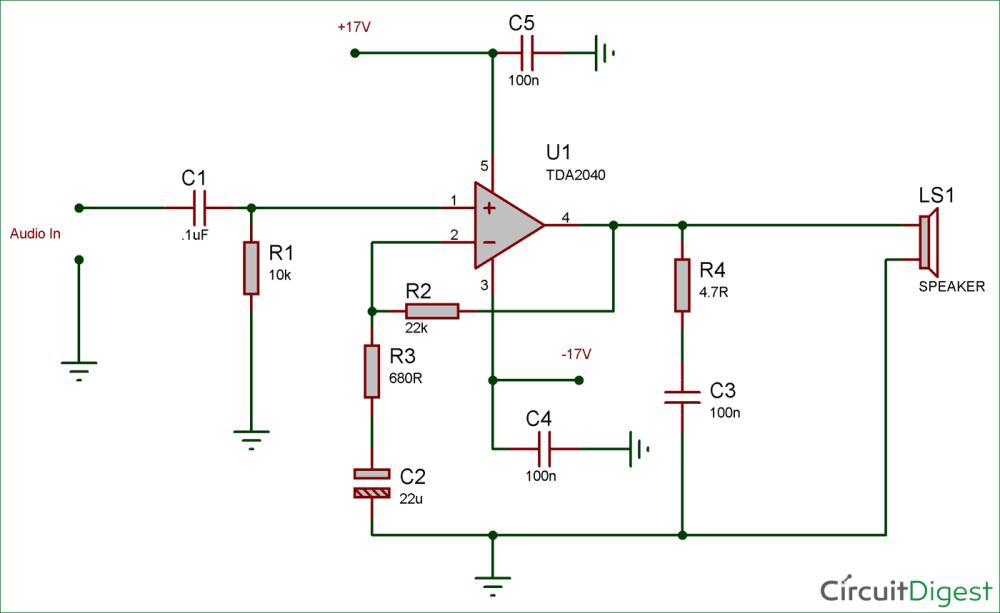 medium resolution of 25 watt audio amplifier circuit diagram and explanation