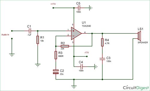 small resolution of 25 watt audio amplifier circuit diagram and explanation