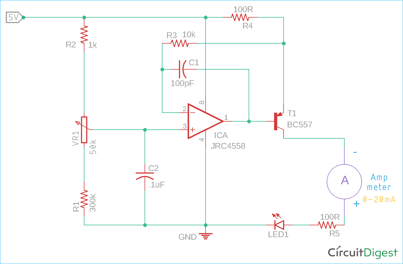 hight resolution of current loop tester circuit diagram using op amp