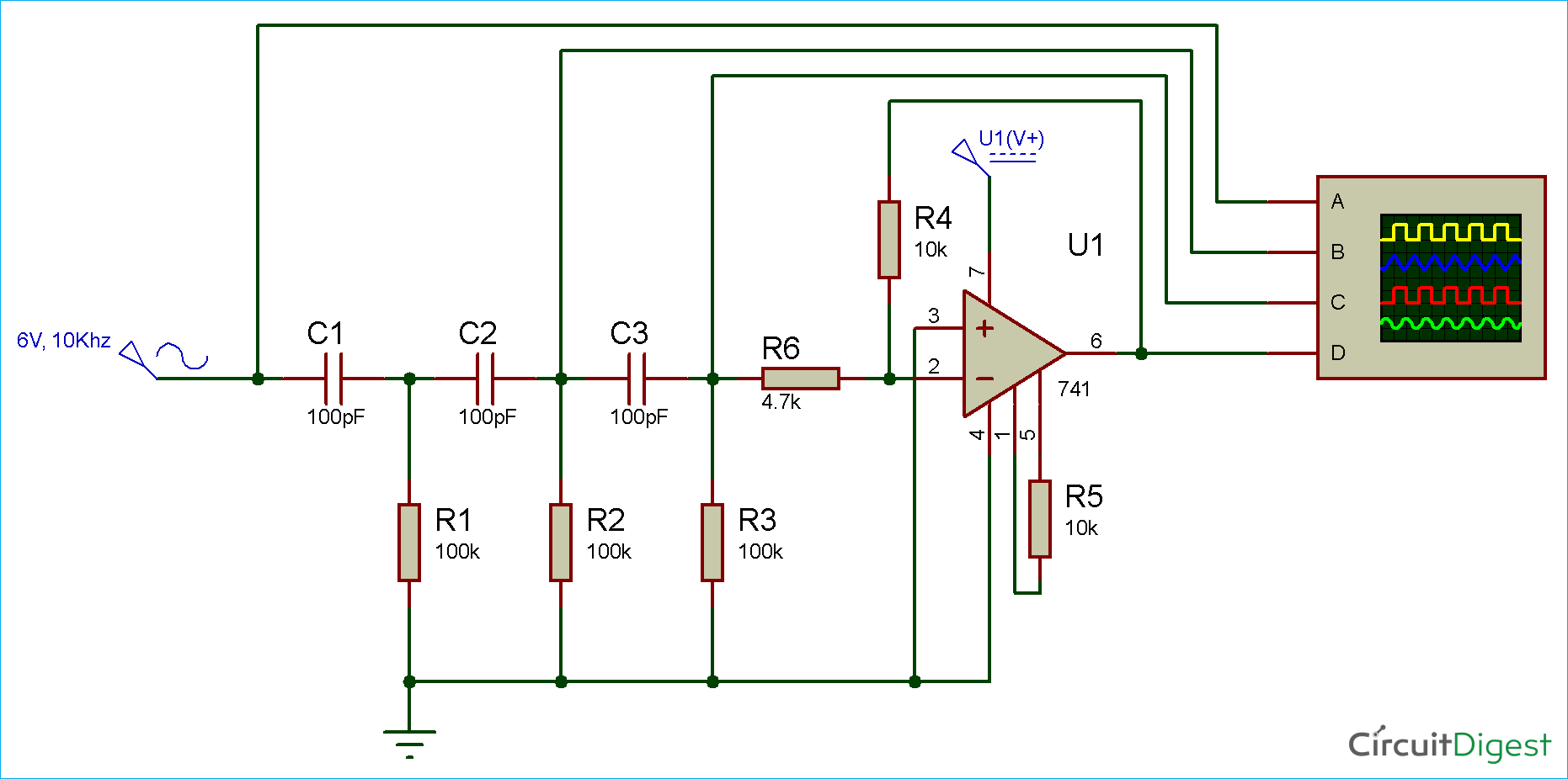 hight resolution of long interval rc timer using opamp simple circuit diagram diagram