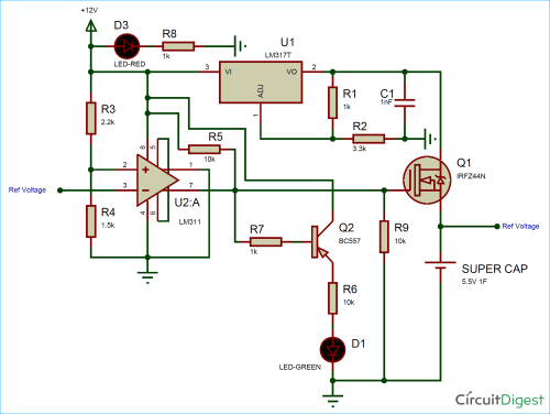 small resolution of supercapacitor charger circuit diagram