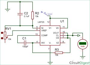 LM723 Voltage Regulator Circuit Diagram