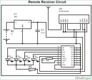 RF Transmitter and Receiver Circuit Diagram