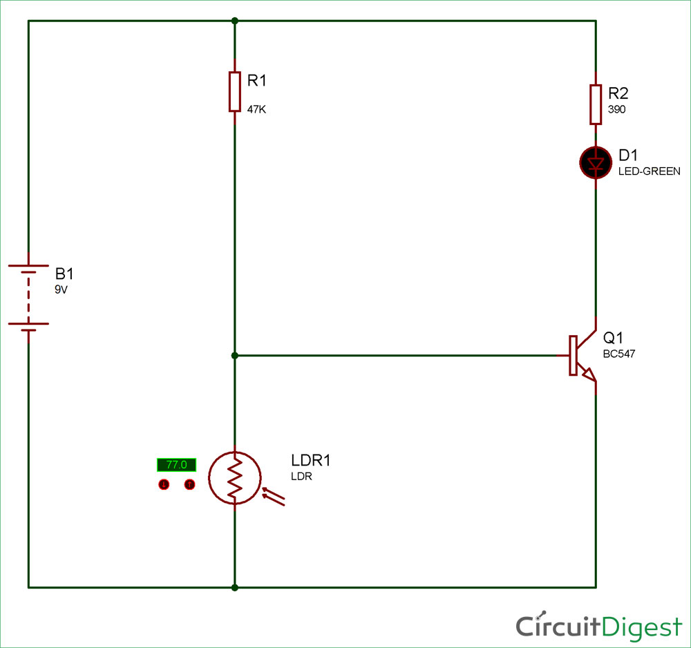medium resolution of simple key hole lighting device circuit diagram