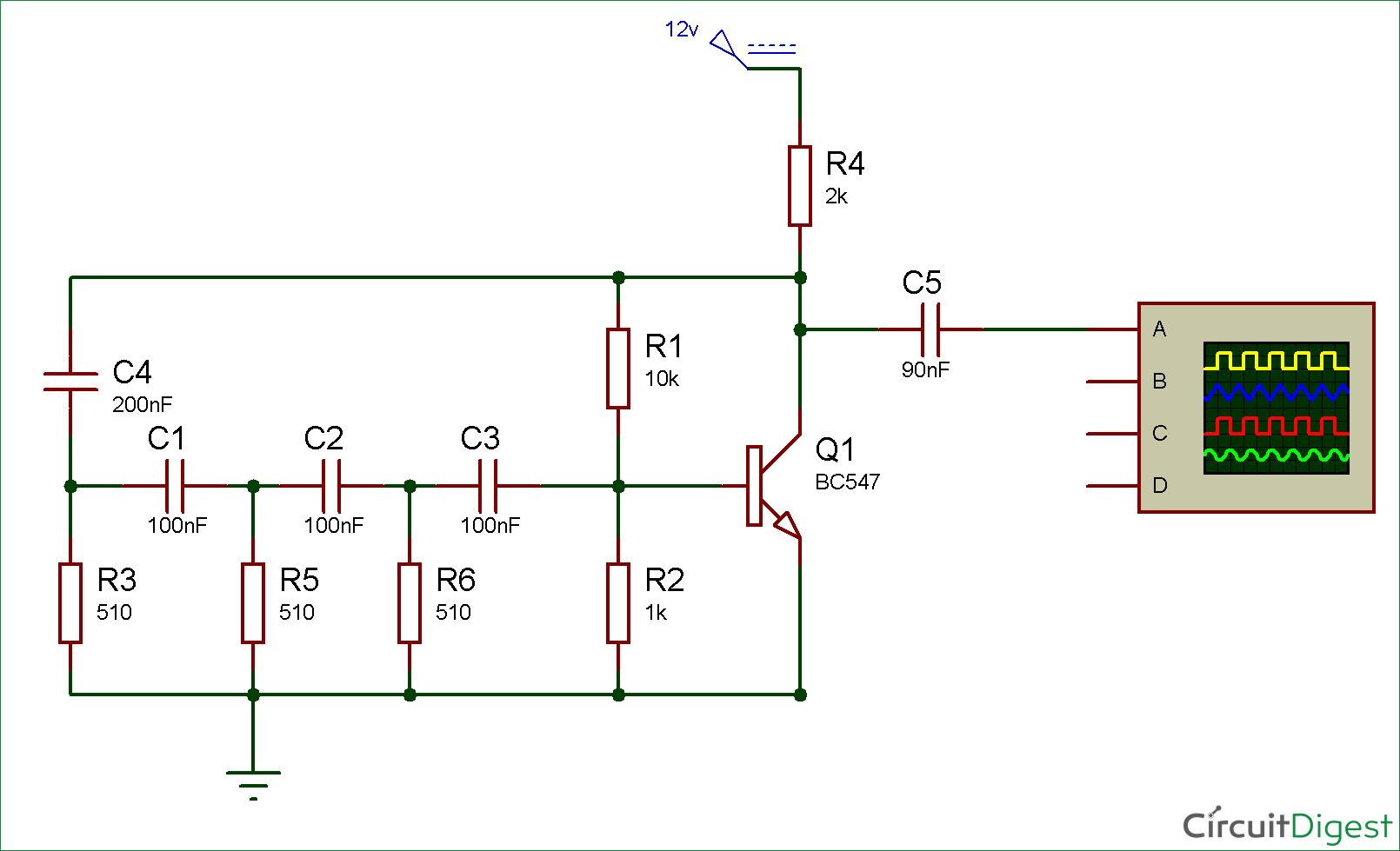 Pulse Generator Circuit Using Two Complementary Transistors