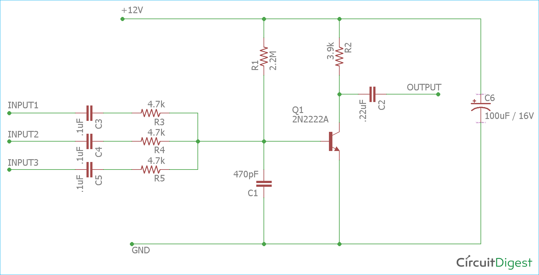 hight resolution of single transistor audio mixer circuit diagram audio mixer circuit diagram pdf mixer circuit diagram