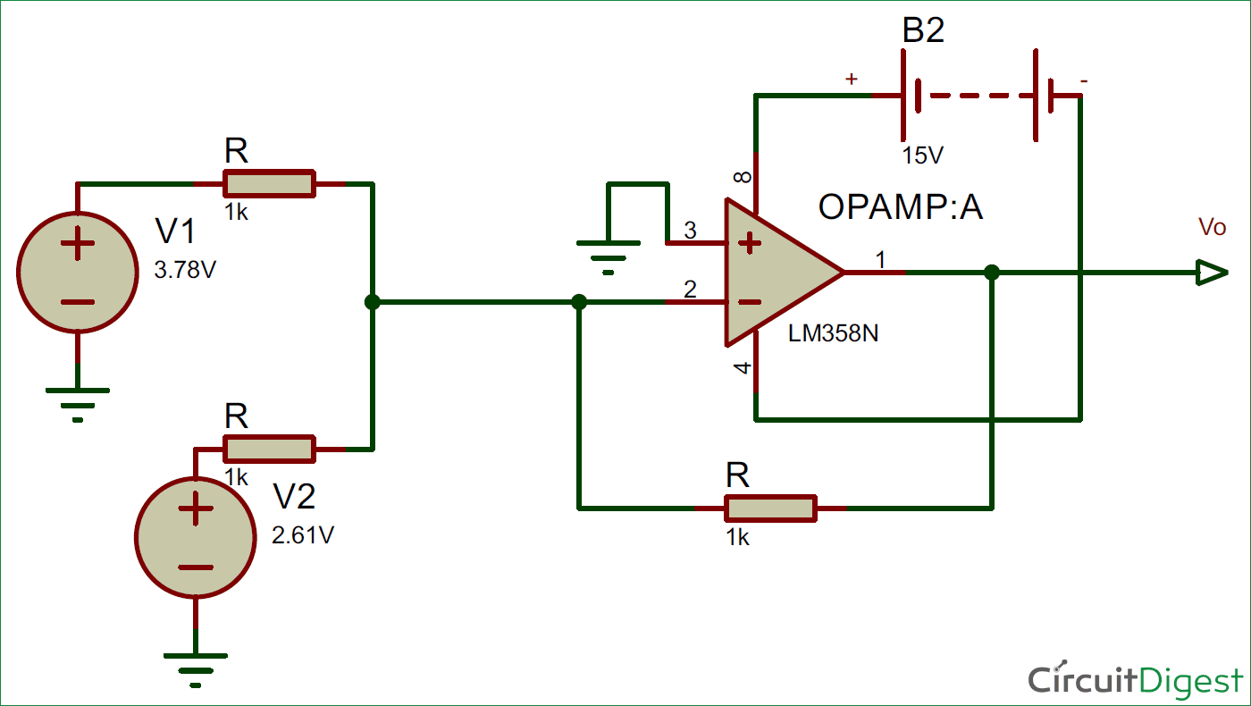 circuit diagram of non inverting amplifier how to draw a venn summing or op amp adder