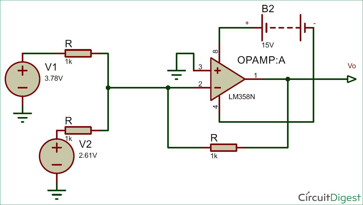 circuit diagram of non inverting amplifier two way lighting wiring summing or op amp adder