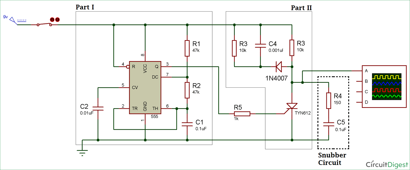 hight resolution of thyristor switching using snubber circuit snubbernetworkenergysaver powersupplycircuit circuit diagram