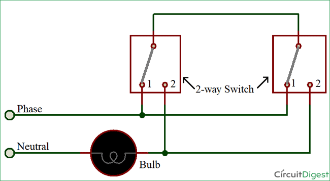 2 way switch diagram wiring 12 pin relay latest for automotive a free download how to connect with circuit light using 3 wire method