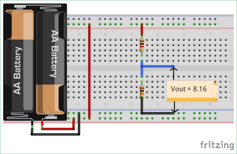 medium resolution of potential divider circuit diagram on fritzing voltage divider circuit diagram