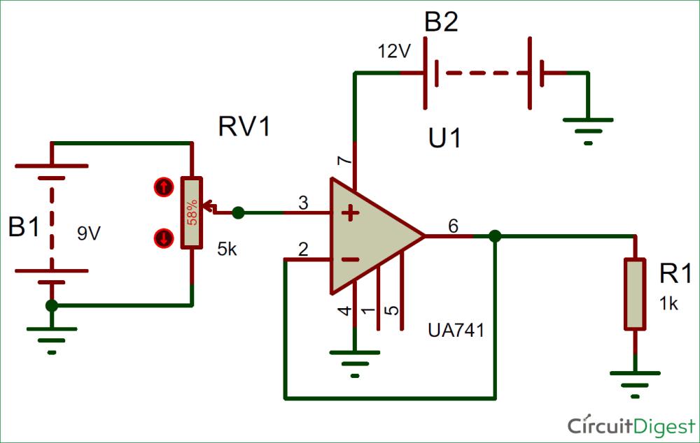medium resolution of voltage follower circuit diagram using opamp