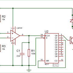 Light Sensitive Switch Circuit Diagram 2006 Honda Civic Fuse Wireless Using Ldr And Cd4017