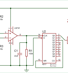 wireless switch circuit diagram using ldr and cd4017 [ 1987 x 957 Pixel ]