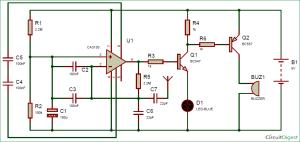 Cell Phone Detector Circuit Diagram