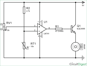 Temperature Controlled DC Fan using Thermistor: Project