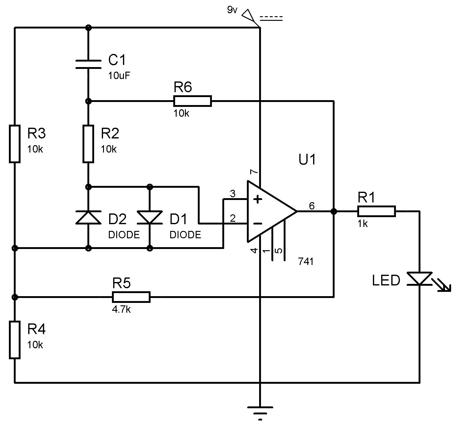 Simple Circuit Capacitor Tester Schematic