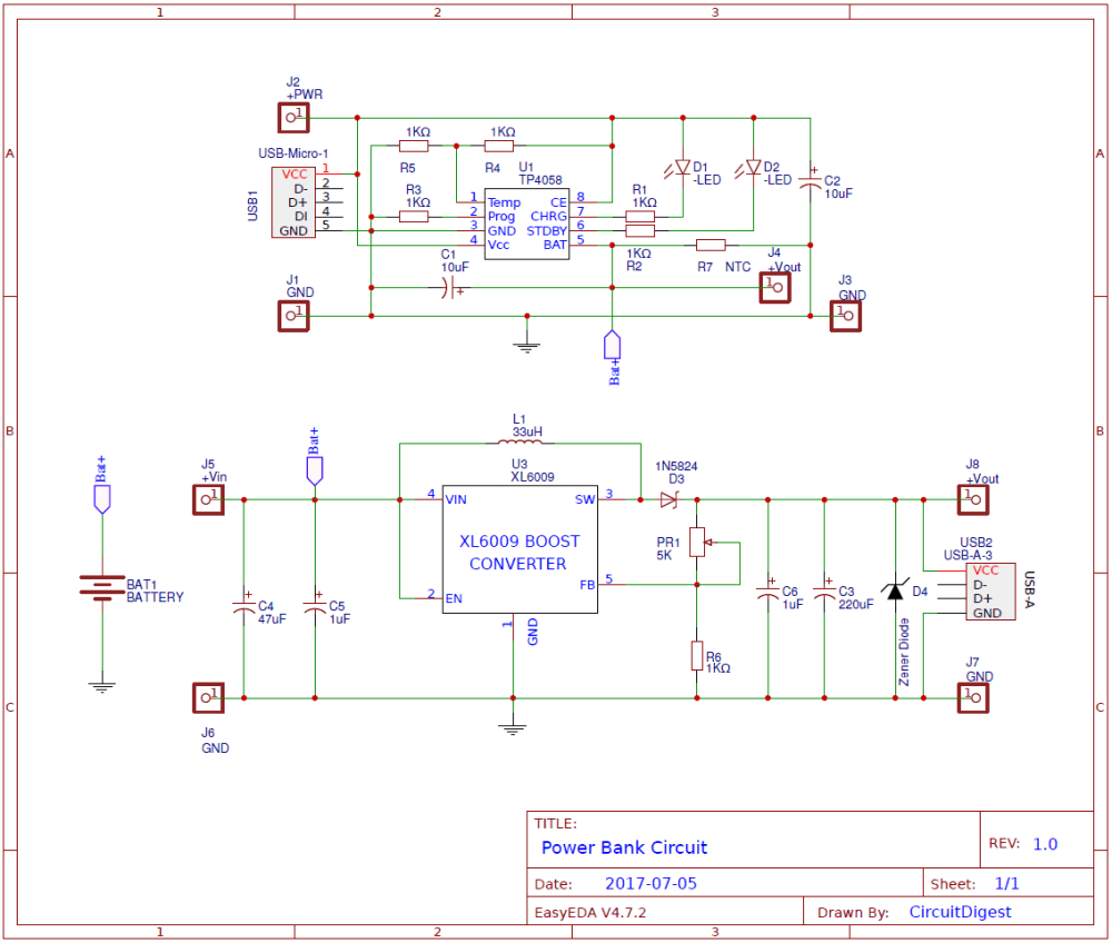 medium resolution of power bank circuit design on pcb mobile charger pcb circuit diagram mobile pcb circuit diagram