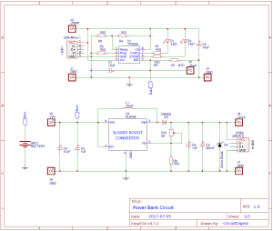 Power Bank Circuit Design on PCB