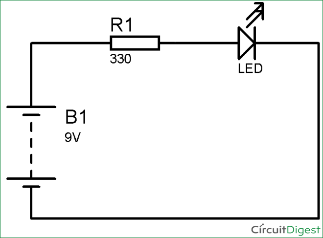Simple LED Circuit Diagram