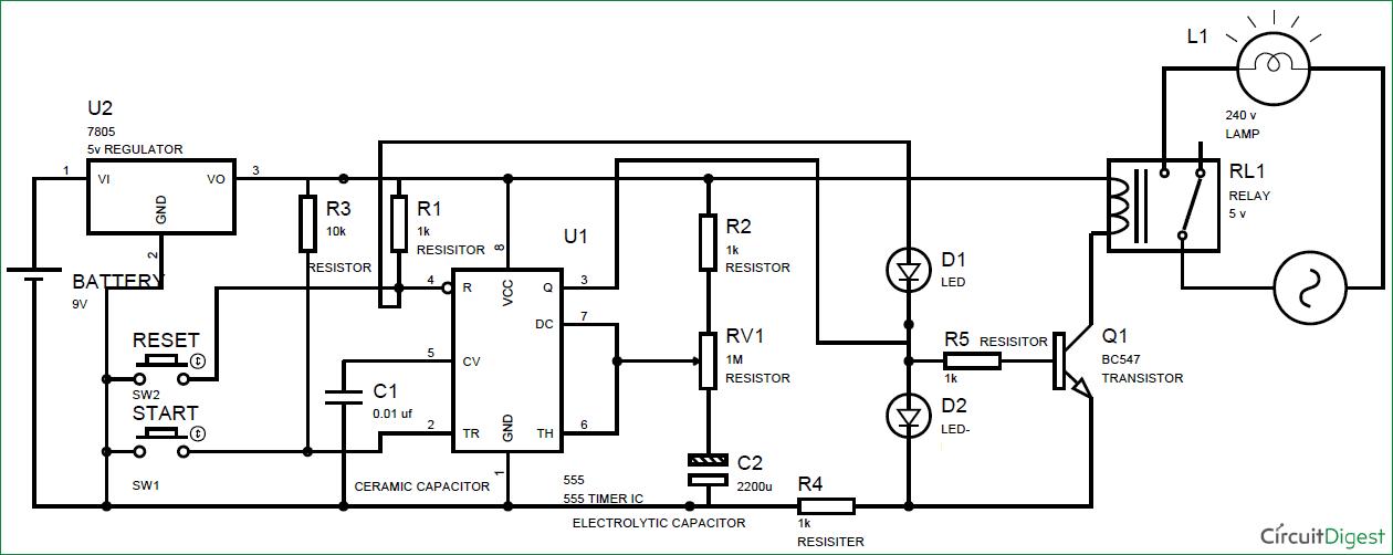 led wiring diagram 120v oma parc de la villette simple time delay circuit using 555 timer
