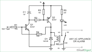 Simple Latch Circuit Diagram with Transistors