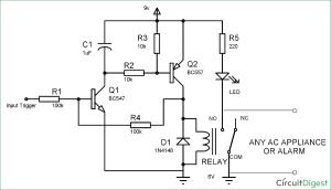 Simple Latch Circuit Diagram with Transistors