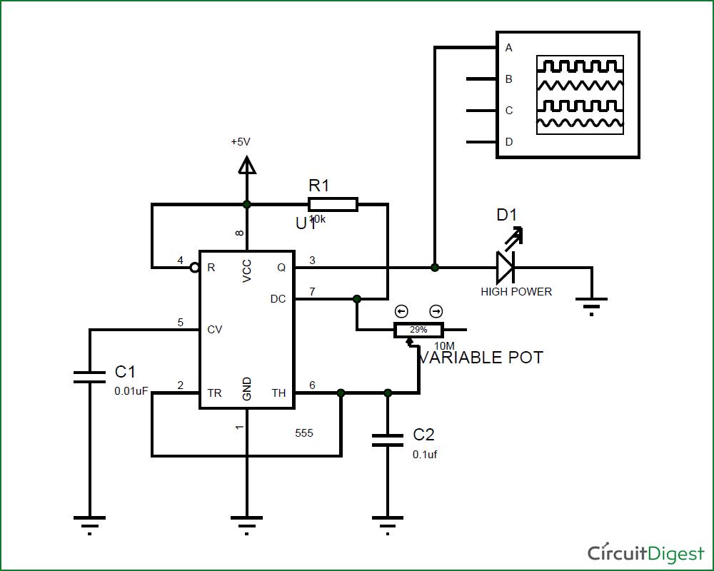 circuit diagram led strobe light