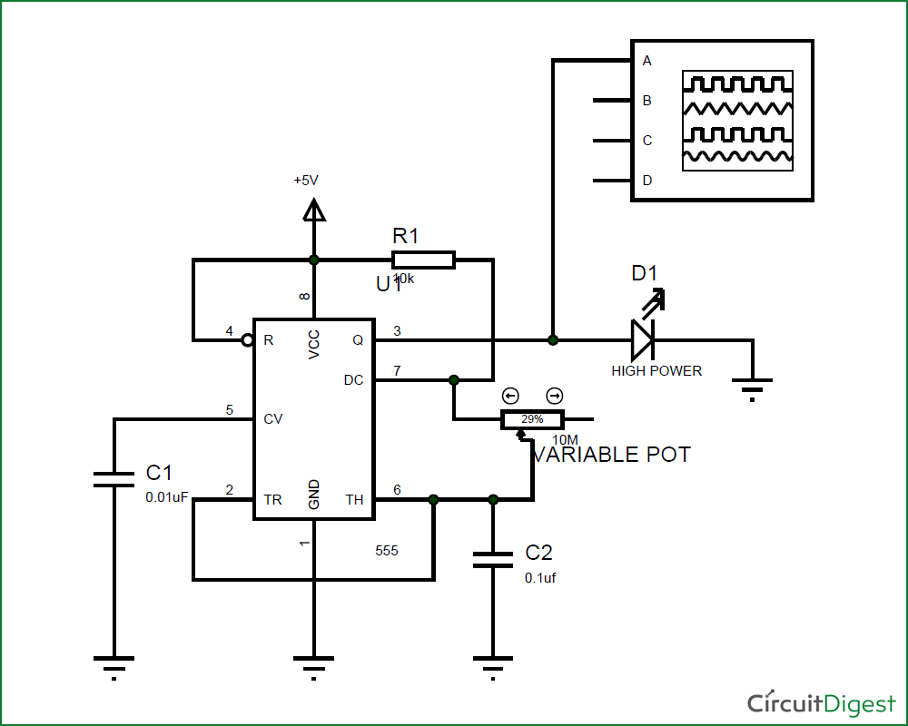 led strobe light circuit diagram chevy 7 pin trailer plug wiring