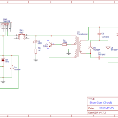 Taser Circuit Diagram Electron Dot For Carbon Diy Stun Gun On Pcb