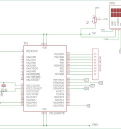4x4 matrix keypad interfacing circuit diagram with pic microcontroller [ 1500 x 979 Pixel ]
