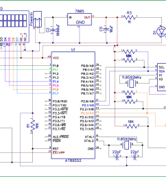 8051 digital clock circuit diagram [ 1200 x 788 Pixel ]