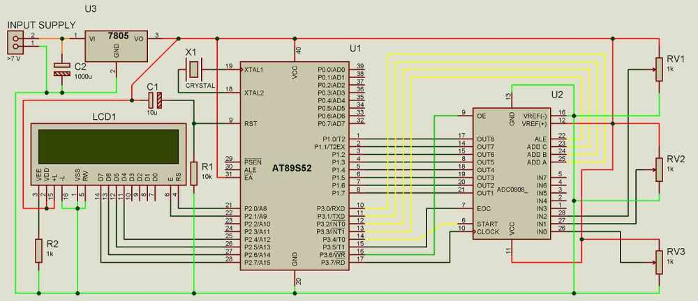 medium resolution of adc0808 interfacing with 8051 circuit diagram