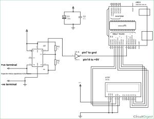Arduino Capacitance Meter Circuit Diagram and Code