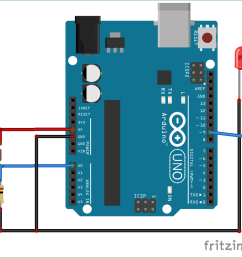 arduino light sensor circuit diagram using ldr [ 1006 x 962 Pixel ]