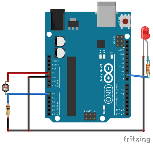 small resolution of arduino light sensor circuit diagram using ldr