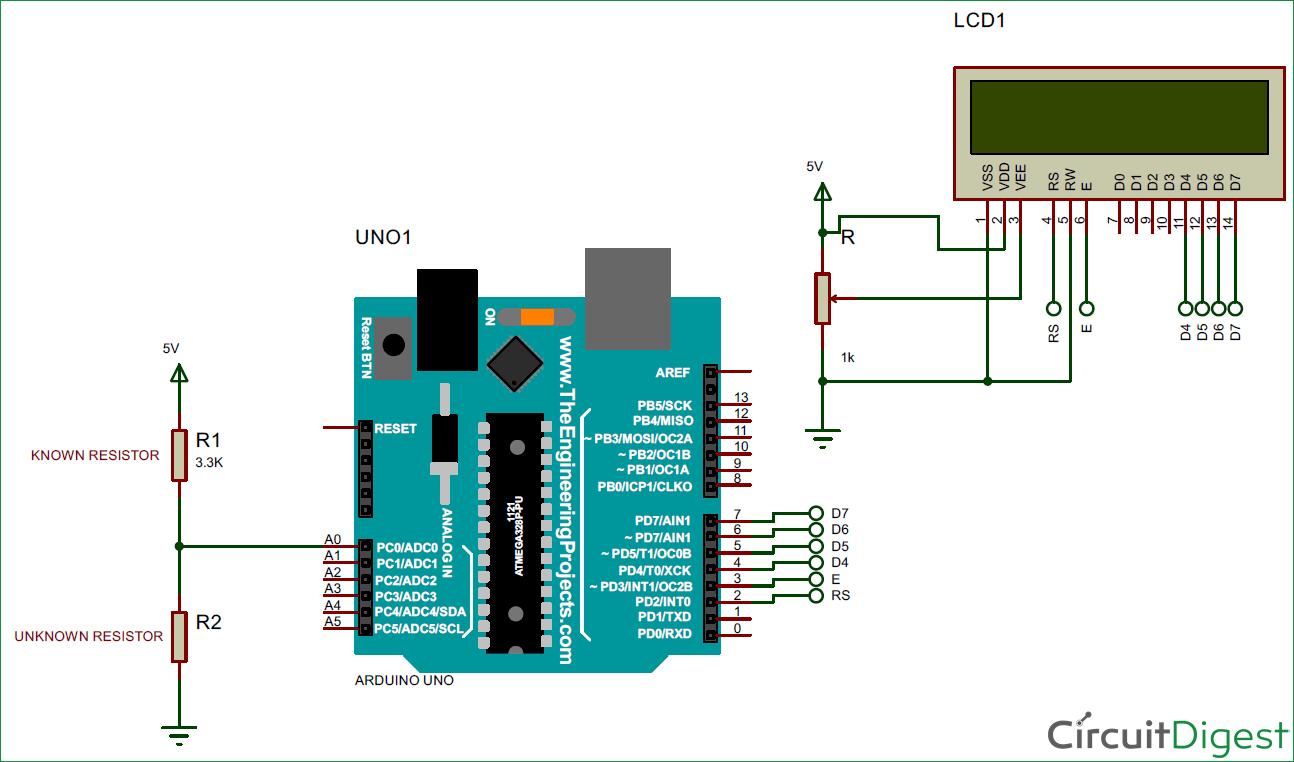 hight resolution of arduino ohm meter circuit diagram
